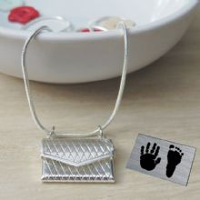 Baby Hand and Foot Print Envelope Pendant - Unique Personalised Mother's Day or 1st Christmas Gift